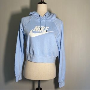 Nike Cropped Hoodie Baby Blue size XS
